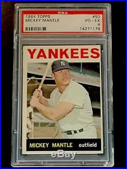 1964 Topps #50 Mickey Mantle HOF PSA 4 VG-EX New York Yankees HOF