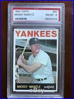 1964 Topps Mickey Mantle #50 PSA 8