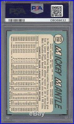 1965 Topps #350 Mickey Mantle PSA 8