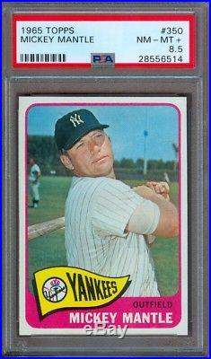 1965 Topps #350 Mickey Mantle Yankees Psa 8.5++