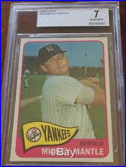 1965 Topps Mickey Mantle 350 BVG 7 Centered Compare To PSA