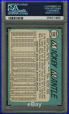 1965 Topps Mickey Mantle Psa 7- Great Color, Centering-hi-end