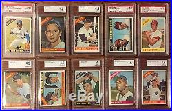 1966 Baseball Topps Set Lot 598/598 VG/EX-EX, Mantle, Mays, Clemente, Aaron