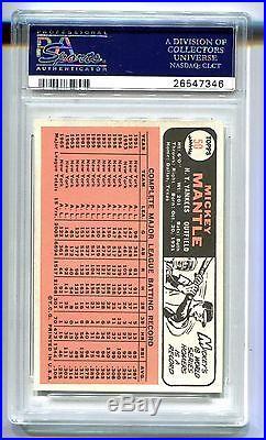 1966 Topps Mickey Mantle #50 Psa 9 Mint Pop 56 (looks Gem Mint) B26547346