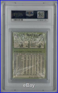 1967 Topps Baseball Cello Pack PSA Mickey Mantle Front Mathews Back PSA 8 Insane