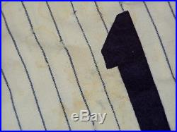 1969 NEW YORK YANKEES GAME USED FLANNEL BASEBALL JERSEY VINTAGE 1960s