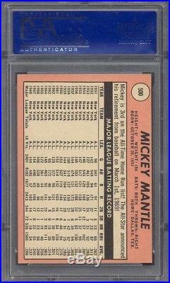 1969 Topps #500 Mickey Mantle PSA 8 (OC)