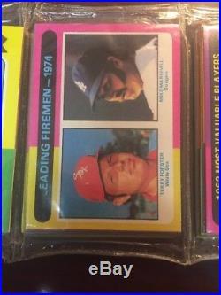 1975 Topps Baseball Unopened Cello Rack Packs Rak Paks Mantle. Brett Rc Rs20
