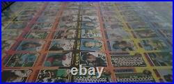 1975 Topps Sheet uncut 132 cards Nolan Ryan, Schmidt, Fisk, Mantle & Clemente