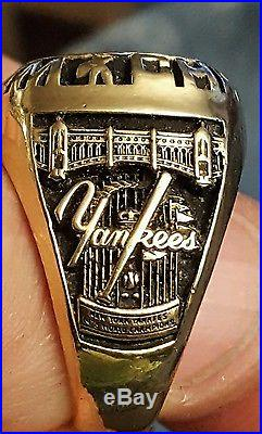 1978 NY YANKEES WORLD SERIES CHAMPIONSHIP RING player's ring. Cliff Johnson