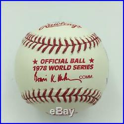 1978 New York Yankees World Series Champs Team Signed WS Baseball PSA DNA COA