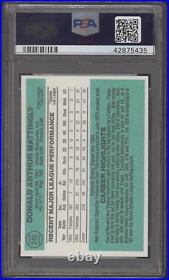 1984 Donruss #248 Don Mattingly Yankees RC PSA/DNA Authentic Auto 10