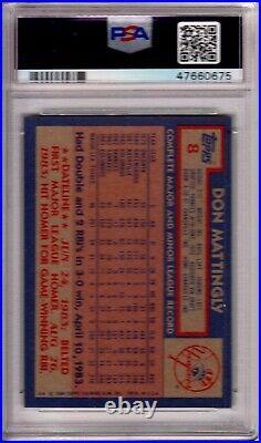 1984 Topps Don Mattingly #8 New York Yankees Baseball Rookie RC PSA 10 Gem Mint