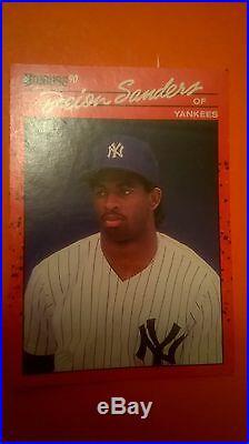 1990 Topps Deion Sanders New York Yankees #61 Baseball Card