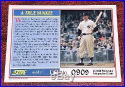 1991 Score MICKEY MANTLE AUTOGRAPH (HOF) Yankees 0909/2500