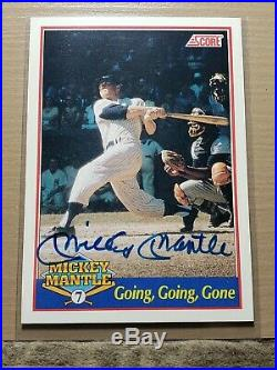 1991 Score Mickey Mantle Autograph Card #1768/2500 HOF Yankees Signature Auto