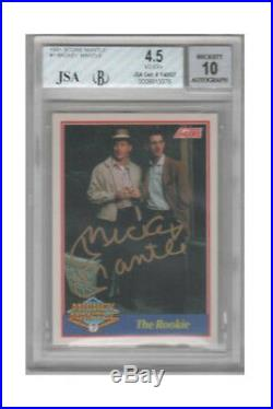 1991 Score Mickey Mantle Autographs 7 Cards With Two Advertising Pieces 1/1