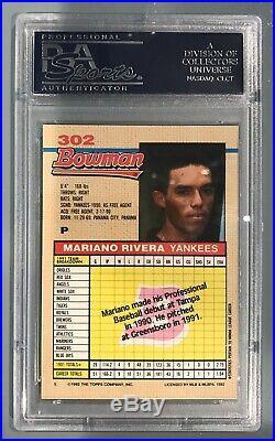 1992 Bowman Mariano Rivera New York Yankees #302 Baseball Card. PSA 10 Gem Mint