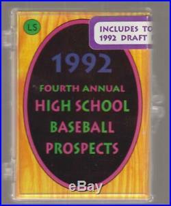 1992 Little Sun High School Prospects FACTORY SEALED SET #/3000 Jeter AUTO /250