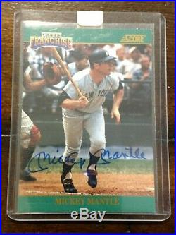 1992 Score The Franchise MICKEY MANTLE Autographed Auto 700/2000