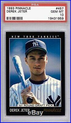 1993 DEREK JETER Pinnacle #457 Rookie Card PSA 10
