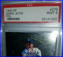 1993 Derek Jeter SP Foil RC PSA 9 Rookie Mint Sharp #279