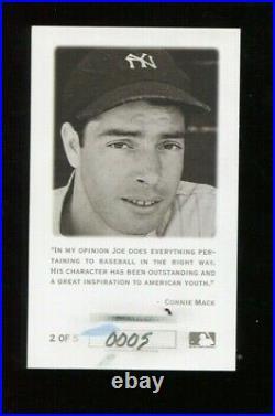 1993 Pinnacle JOE DiMAGGIO On Card Certified Autograph #2 YANKEES #d 0005/1800