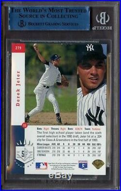 1993 SP Foil #279 Derek Jeter New York Yankees RC Rookie HOF BGS
