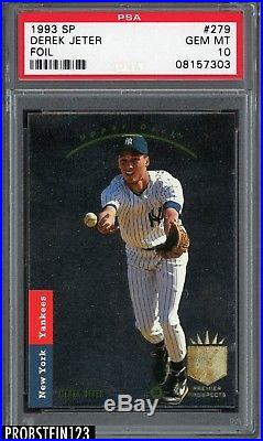 1993 SP Foil #279 Derek Jeter Yankees RC Rookie PSA 10 ABSOLUTELY FANTASTIC