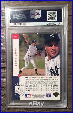 1993 SP Foil #279 Derek Jeter Yankees RC Rookie PSA 9 MINT