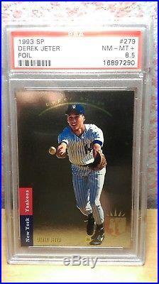 1993 Sp #279 Derek Jeter Foil Rookie Rc Psa 8.5 Nm-mt+ Awesome! N. Y. Yankees