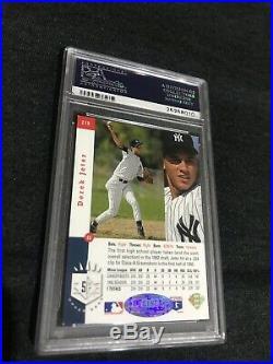 1993 Sp #279 Jeter Rookie Foil Psa 10 Autograph- Psa 10 Foil Pack- 1 Rc Card