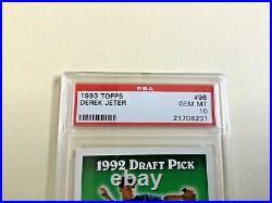 1993 Topps Derek Jeter Rookie Card PSA 10 GEM MINT