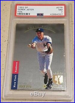 1993 Upper Deck Sp Yankees Derek Jeter Card #279 Foil Hot Rc Rookie Psa 7