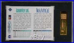 1994 UD Mickey Mantle Ken Griffey Jr Dual Auto/Autograph SGC 88 Nm/Mint 8 Rare