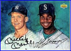 1994 UD Upper Deck MICKEY MANTLE KEN GRIFFEY JR. Dual Auto Autograph Card with COA