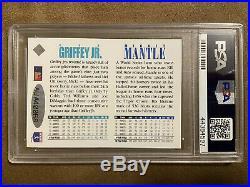 1994 Ud Mickey Mantle/ken Griffey Jr. Dual Auto 3 Card Set Psa/dna Auto 10