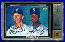 1994 Upper Deck #GM1 Ken Griffey Jr and Mickey Mantle dual Autograph BGS 9/10