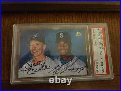 1994 Upper Deck Ken Griffey, Jr. /Mickey Mantle Dual Auto PSA Slabbed and Auth'd
