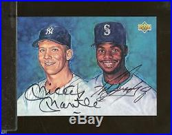 1994 Upper Deck MICKEY MANTLE / KEN GRIFFEY JR Dual Auto UDA Mariners Yankees