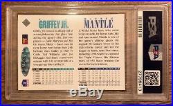1994 Upper Deck MICKEY MANTLE KEN GRIFFEY Jr. Dual Auto Autograph