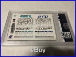1994 Upper Deck Mickey Mantle & Ken Griffey Jr. Dual Auto Autograph PSA 7/8