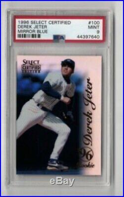 1996 Select Certified Mirror Blue Derek Jeter /45 Rookie PSA 9