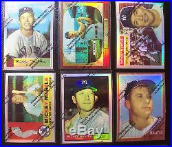 1996 Topps Finest Mickey Mantle Refractor complete 19 card set with film peel