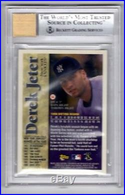 1997 Topps Derek Jeter Rookie of the Year Autograph-BGS 9 Auto 10-N. Y. Yankees
