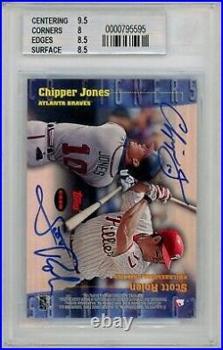1999 Stadium Club Co-Signers Alex Rodriguez/Derek Jeter/Chipper Jones/Rolen