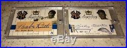 2000 Yankees Legends Babe Ruth Mickey Mantle Cut Auto Autograph 1/3 6/7 GU Bat