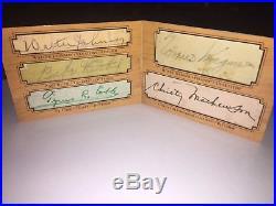 2001 Ud Legendary Cuts Ruth Cobb Wagner Mathewson Johnson Autographed 1/1