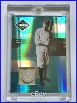 2005 Leaf Limited Babe Ruth Game Used Jersey Button Patch HOF Yankees #ed 2/3
