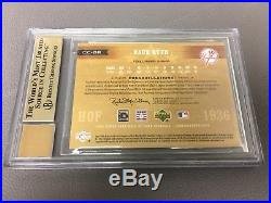 2005 UD HOF Cooperstown Cuts BABE RUTH 1/1 Bat & Cut Auto Card BGS 9.5 Gem Mint